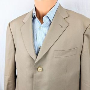 Mens Burberry Wool Beige Blazer sz 42 Regular